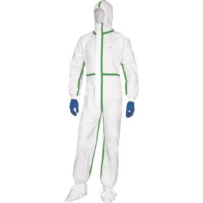 Delta Plus Chemical protection hooded overall Deltatek 5000®. Welded seams.