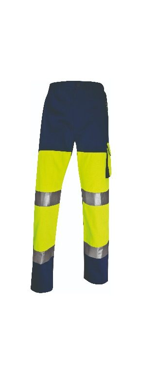 Panostyle high visibility working trousers in polyester/cotton