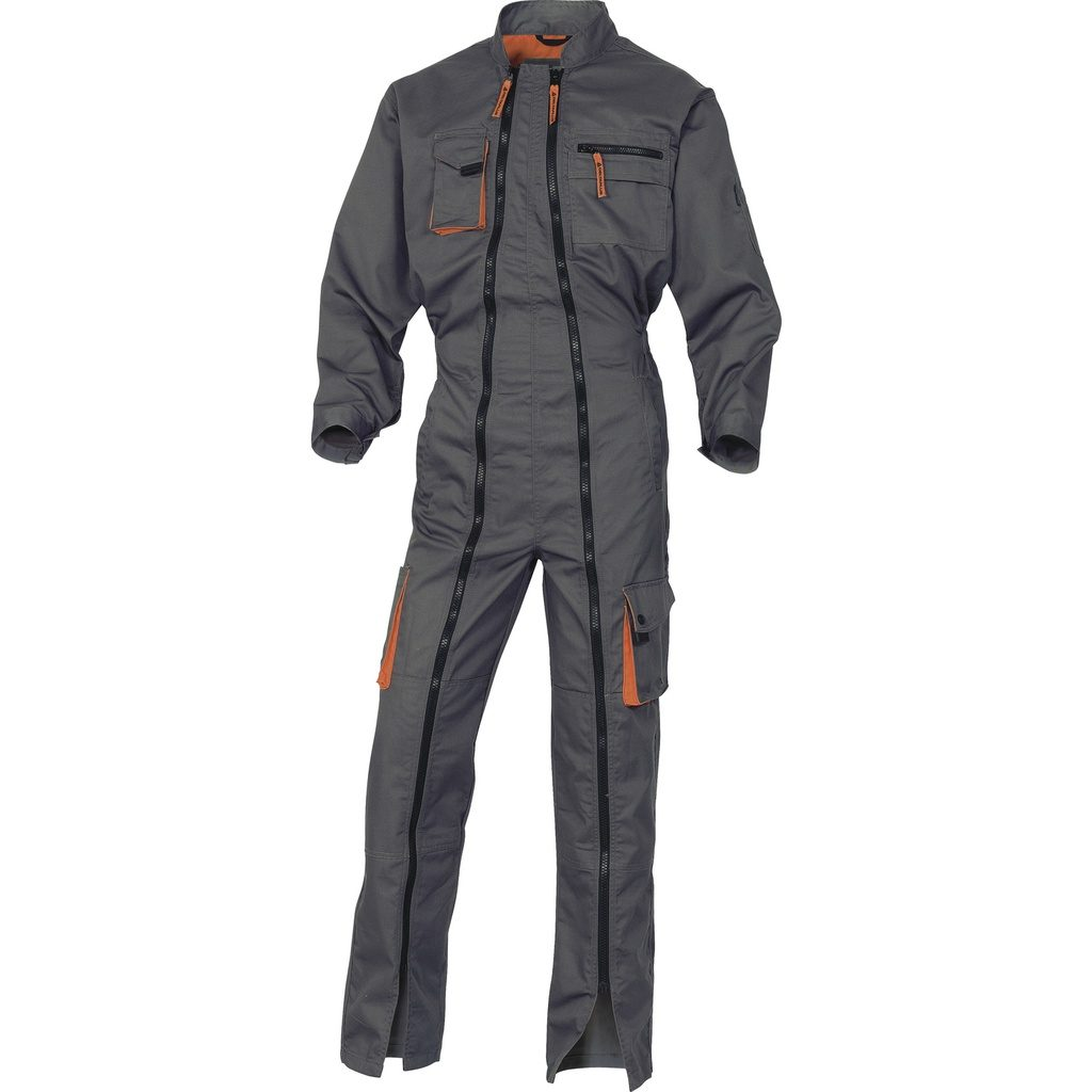 Delta Plus Working Overall Double Zip In Polyester / Cotton