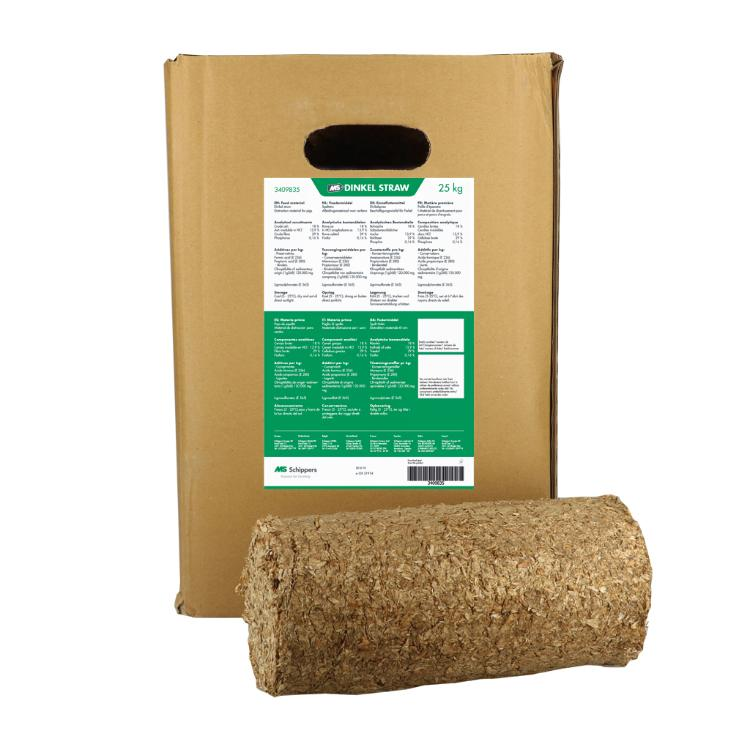 Toy for pigs: natural straw briquettes (25 kg)
