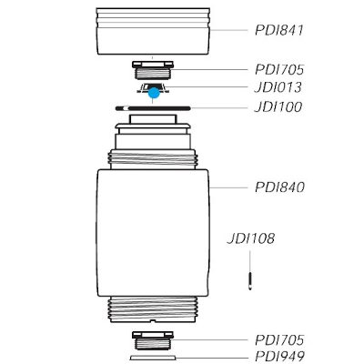 VF flat joint for Dosatron D25RE2 pump
