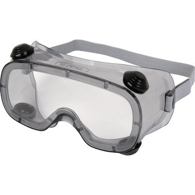 CLEAR POLYCARBONATE GOGGLES - INDIRECT VENTILATION