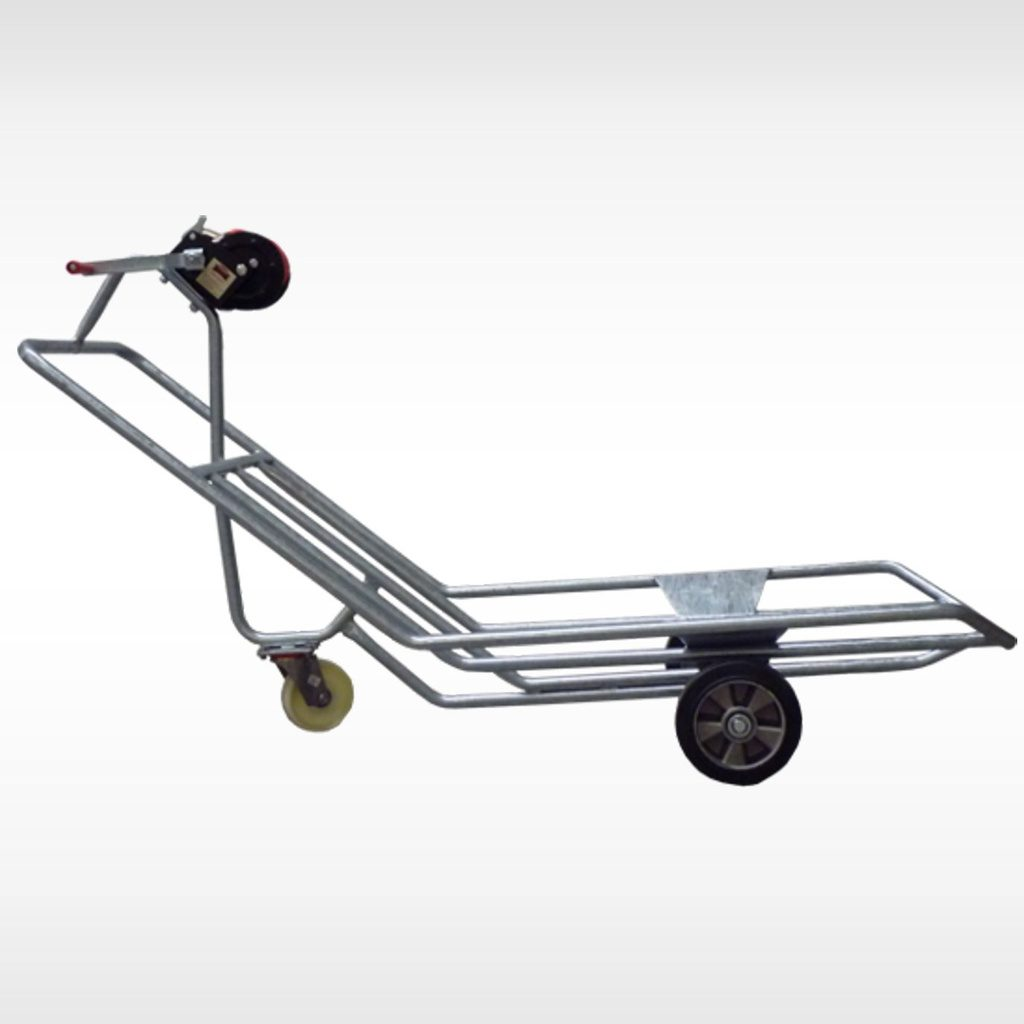 Galvanised wheelbarrow for corpses, special for sows