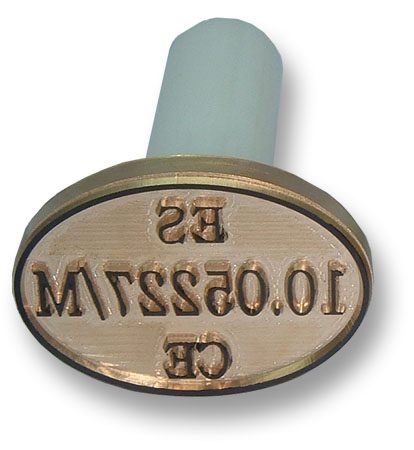 4.5 x 3 cm meat inspection stamp