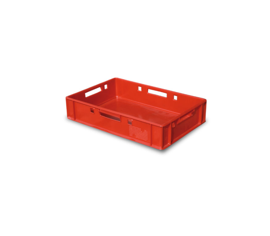 E1 crate for meat 600x400x125 mm