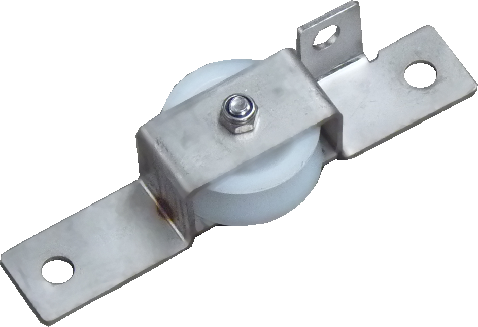 Small wheel with horitzontal stainless steel support