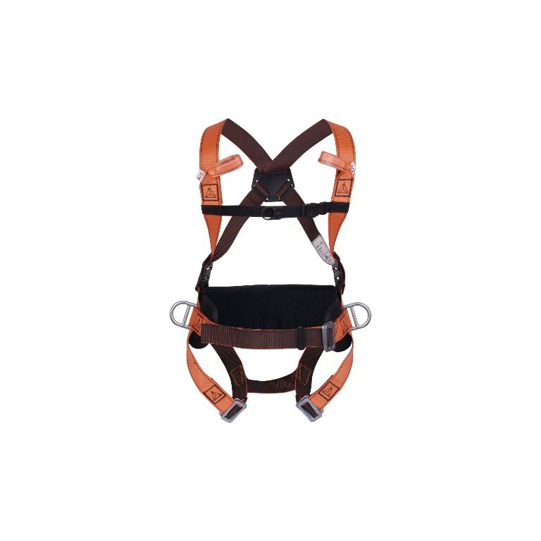 Fall arrester harness with belt - 4 anchorage points